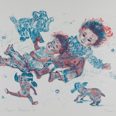 Puppen/Dolls 1975-1977 78x57 Lithography