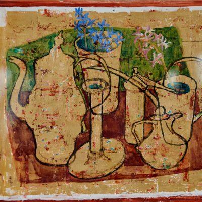 Stillleben/Still Life, on goldplated background 1972