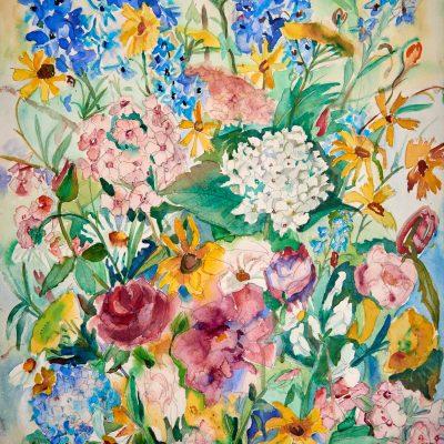 Blumen/Flowers, Aquarelle, 1977