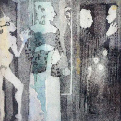 Menschen im Raum/People in the Room ca. 1970 35x27 Edging