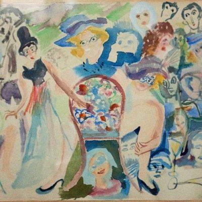 Kabaret/Cabaret, Aquarelle 1954